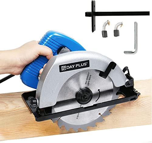 new arrival 7-1/4'' Circular Saw 900W Powerful Electric Circular Saw lowest 4700RPM Adjustable Cutting Depth Max 2.17'' with Double Safety Switch Lightweight 1.5m Cable outlet sale with Saw Blade Rip Guide outlet online sale