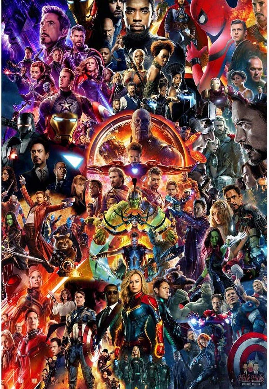 WYF Hlzerne Mind Game Avengers Poster Puzzles, Infinity War Movie Stills, für Erwachsene Kinder, Denkaufgabe Lernspielzeug Interlocking Display Aufbewahrungsbox 1000 1500 Stück P609