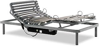 comprar comparacion Gerialife® Cama Articulada Eléctrica Reforzada (90x190, Plateado)
