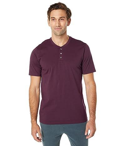 Mod-o-doc Super Fine Jersey Short Sleeve Three-Button Henley