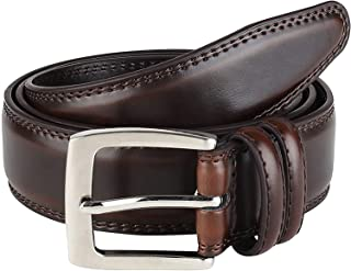Sponsored Ad - Men's Genuine Leather Belt 'ALL LEATHER' Classic Dress Casual Double Stitch 35mm