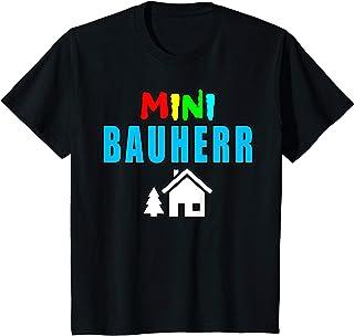 Bauherr 2021 Eigenheim Hausbau Kinder Mini Bauherr Kinder Geschenkidee Richtfest T-Shirt