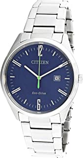 Citizen Men's BM7350-86L Silver Stainless-Steel Eco-Drive Dress Watch