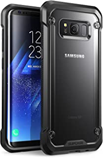 SupCase Samsung Galaxy S8+ Plus Case, Unicorn Beetle Series Premium Hybrid Protective Frost Clear Case for Samsung Galaxy S8+ Plus 2017 Release, Retail Package (Frost/Black)