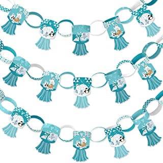 Big Dot of Happiness Arctic Polar Animals - 90 Chain Links and 30 Paper Tassels Decoration Kit - Winter Baby Shower or Bir...