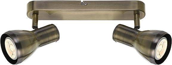 Telbix Curtis 6W Twin 240V GU10 Curtis LED Spotlight, Antique Brass