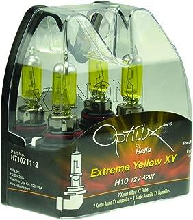Optilux Hella H71071112 XY Series H10 Xenon Yellow Halogen Bulbs, 12V, 42W, 2 Pack