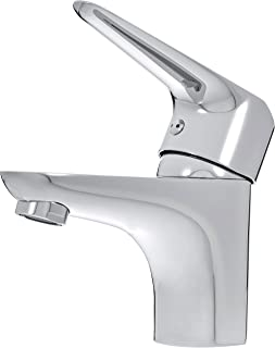 AmazonBasics - Mezclador de grifo de lavabo estándar corto cromo pulido