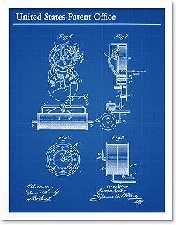 Lake Submarine Vessel Part Design 1897 Patent Plan Art Print Framed Poster Wall Decor 12x16 inch
