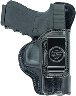 Maxx Carry Inside The Waistband Leather Holster for Glock 20, 21. IWB Holster with Clip Conceal Carry.