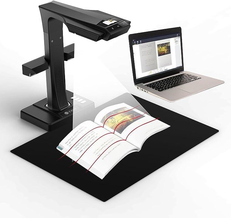 Scanner per libri e documenti con funzione ocr, compatibile con mac e windows czur et16 plus premio