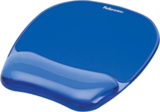 Fellowes 91141 Fellowes Mouse Pad & Wrist Rest - Gel Crystals Blue