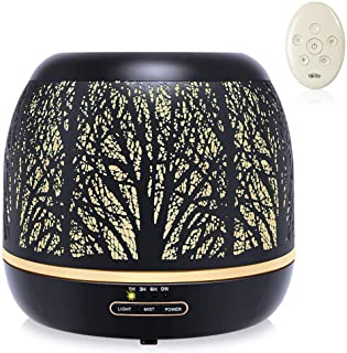 Yolife 500ML Essential Oils Diffuser with Remote Control, Premium Iron Aromatherapy Diffuser with 7 Color Lights, Oil Ultr...