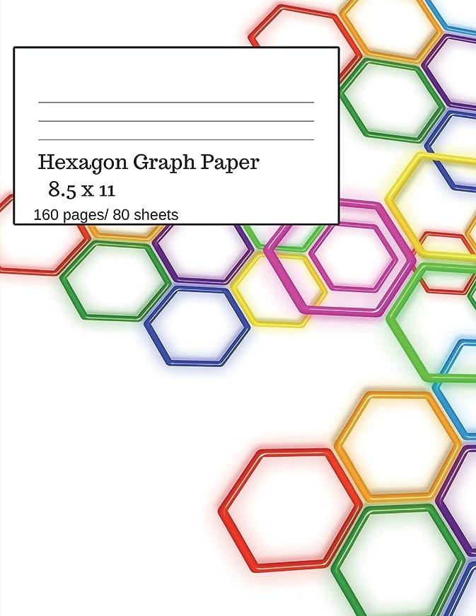 抵抗力がある名義でマイコンHexagon Graph Paper: Hexagonal Paper Notebooks, Large Hexagon, Graph Paper Hexagon, 160 Pages/ 80 Sheets, 8.5 x 11 size. Chemistry Theme