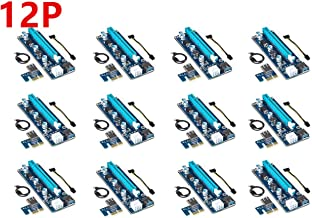 CORN 12-Pack Ver006C Mining Dedicated PCIe Riser Card Riser Adapter Cryptocurrency PCI Express 1X to 16X Extender Mining Rig 60cm USB 3.0 6Pin Power