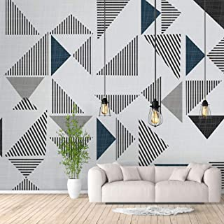 NWT Wall Murals for Bedroom Abstract Geometric Theme Removable Wallpaper Peel and Stick Wall Stickers - 100x144 inches