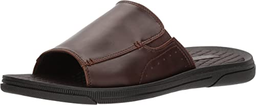 Unlisted by Kenneth Cole Men& 039;s Pacey Sandal B Slide, braun, 10 M US