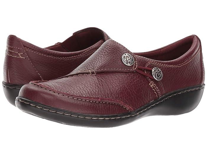 Clarks  Ashland Lane Q (Burgundy Tumbled Leather) Womens  Shoes