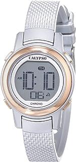 Calypso Reloj Digital para Mujer de Cuarzo con Correa en Pl