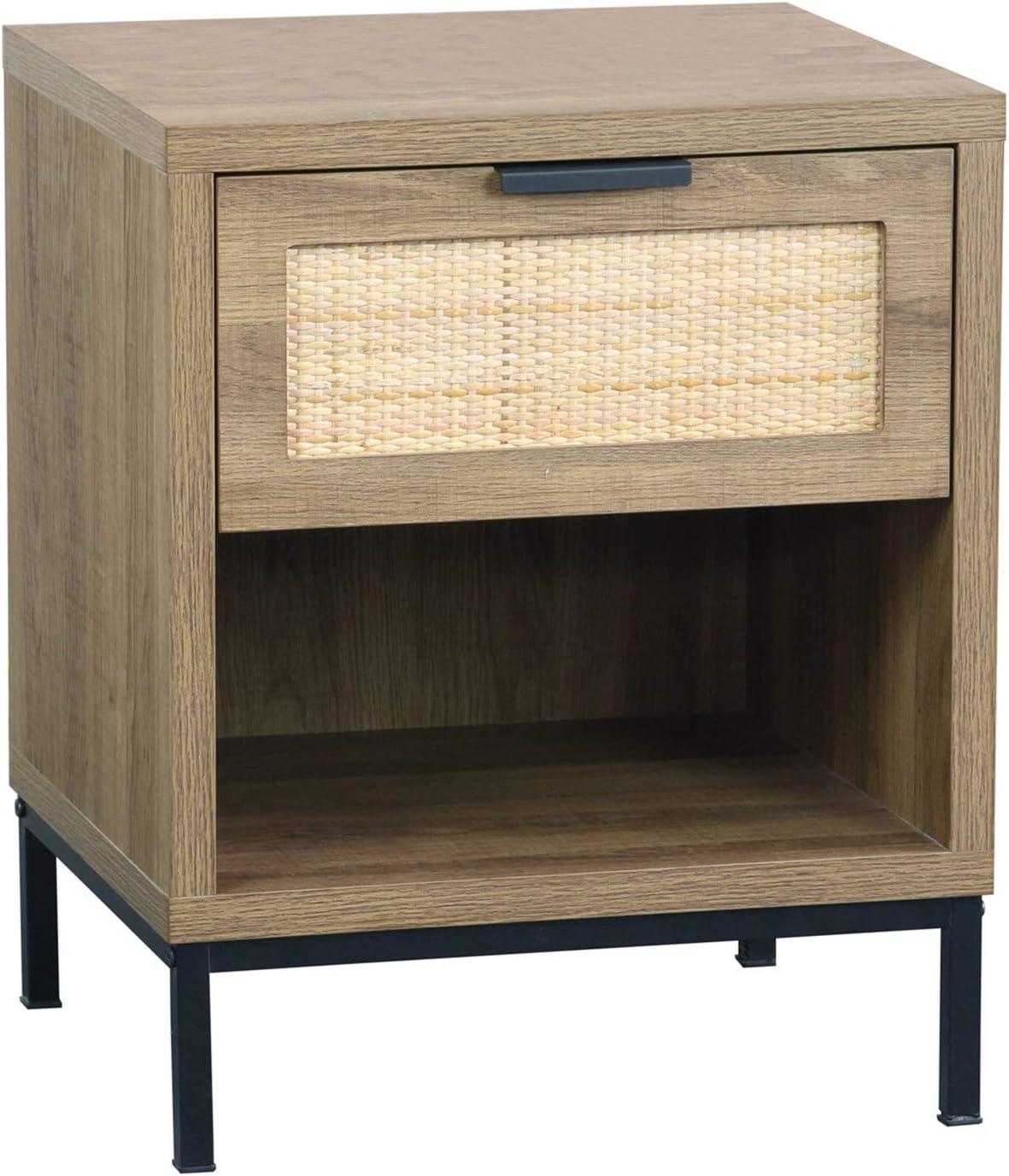 Rattan Drawer Dedication Nightstand Anmytek Bedroom Room Side Outlet ☆ Free Shipping Table Living