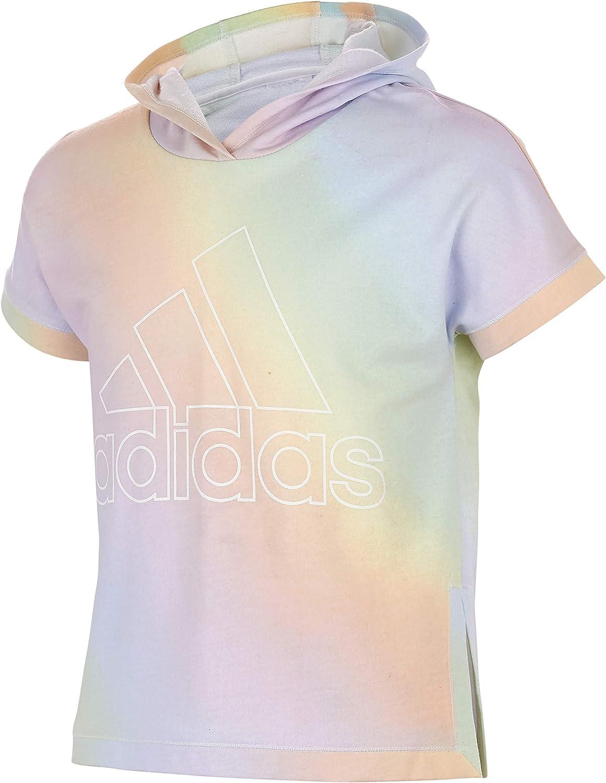 adidas Girls' Short Sleeve Hooded Sweatshirt