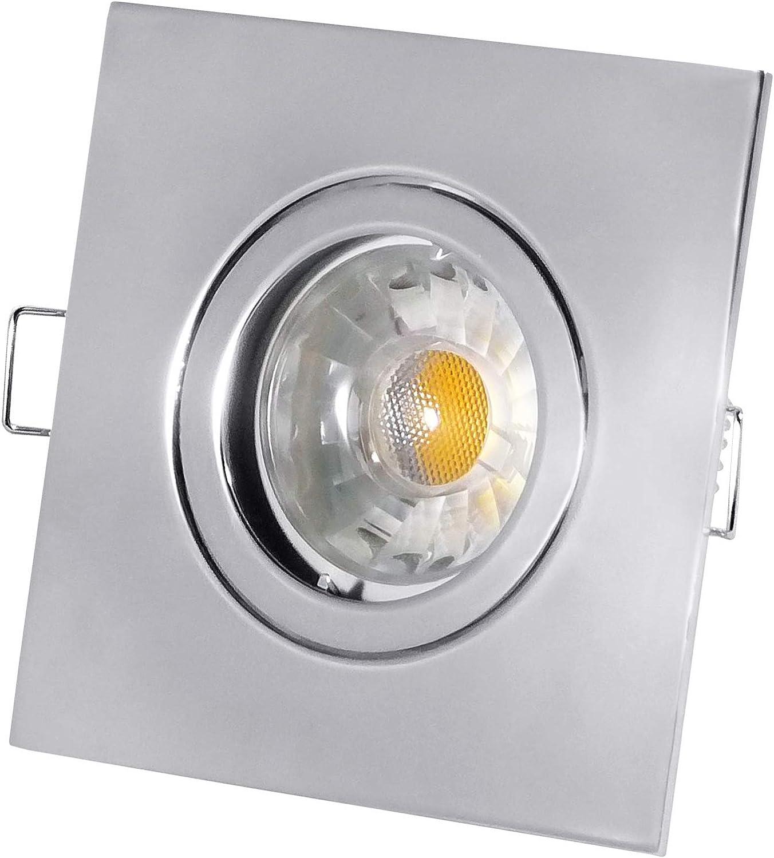 connotación de lujo discreta Umbriel cromo–Empotrable COB LED–3W, 280lúmenes, luz blancoa blancoa blancoa fría, regulable,–230V GU10–Juego de 3, 5 Watt, GU10 3.0 watts 230.00 volts  venta