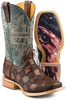 Men's Tin Haul Desert Eagle Boots with Geometric Sole Handcrafted