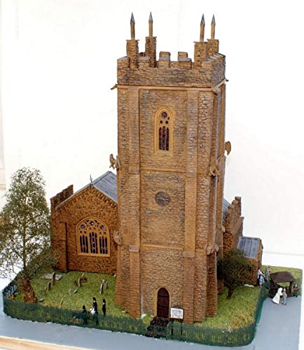 Langley Models 100ft Englisch britische Stein Kirche OO skalieren UNLACKIERT Kit V20set