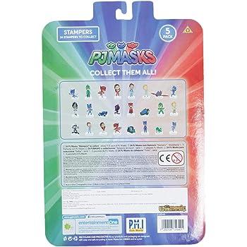 Pj Masks Stampers Blister 5 (S1) - Gekko, Conor, Gekko Mobile, Catboy, Amaya
