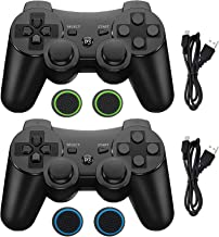 $21 » Wireless Controller for PS3 Controller,Built-in Dual Vibration Gamepad Compatible for Playstation 3,with Charger Cable and...