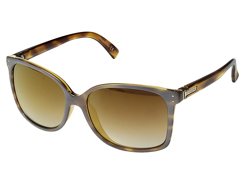 VonZipper Castaway (Frosted Tortoise/Gold Chrome Grad) Sport Sunglasses
