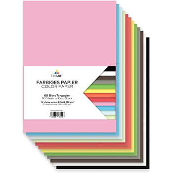 VBS Tonpapier Tonkarton DIN A4 viele Farben 100 Blatt 120 g//qm Papier Bastel-Karton Bastelpapier Gro/ßpackung Tonpapierblock
