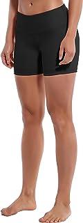 "BUBBLELIME XXS-XL 2.5""/4""/8"" High Waist Women Yoga Shorts Inner Pocket Tummy Control 4 Way Stretch Workout Running Shorts"