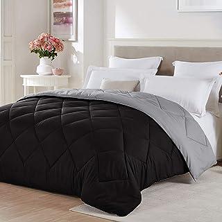 Seward Park Solid, Reversible Color Microfiber Comforter, Hypoallergenic Plush Microfiber Fill, Duvet Insert or Stand-Alon...