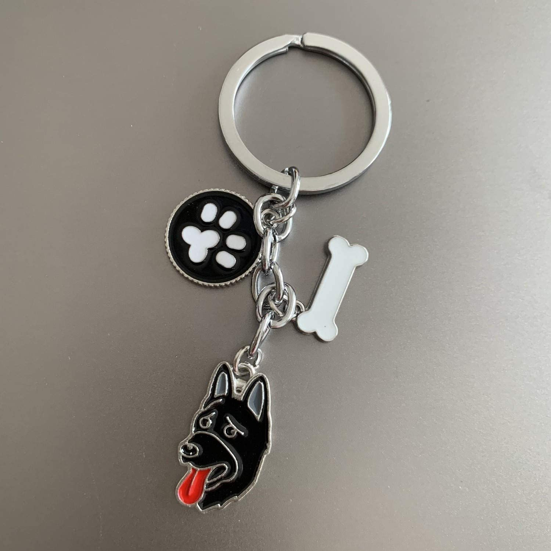 Hundepfoten-Anh/änger Hundemarken Schl/üsselanh/änger Haustier-ID-Anh/änger aus Metall