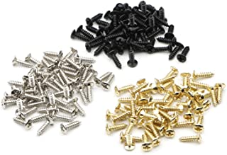 Chrome Gold Black Electric Guitar Bass Pickguard Backplates Tremolo Cover Screws for ST TL SG LP Guitar Pack of 150 (50 Pack per color)