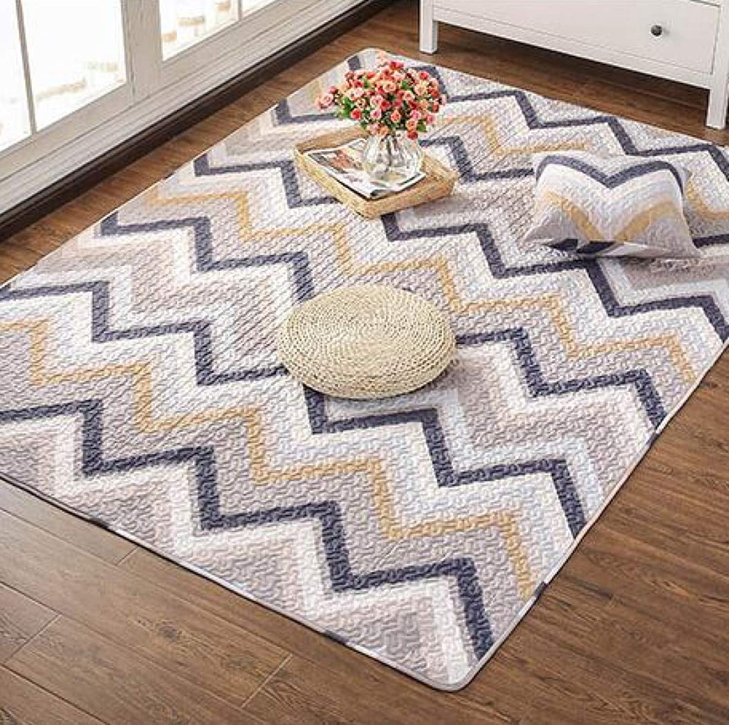 Modern Carpets Kids Bedroom Cartoon Carpets Soft Cotton Home Decor Textile Rugs Wear-Resistant and Durable Rug