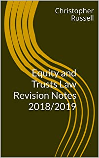 Equity and Trusts Law Revision Notes 2018/2019
