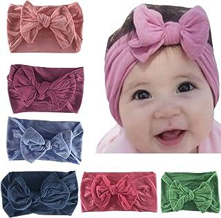 vanberfia عصابة رأس للفتيات الرضع من الشيفون إكسسوارات شعر للأطفال حديثي الولادة والأطفال 5-7 قطع