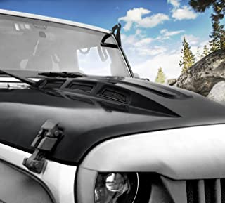 DIYTuning Front AVG Style Mental Heat Reduction Hood w/Vents Hood for Jeep Wrangler JK JKU Unlimited Rubicon Sahara X Off Road Sport Exterior Accessories Parts 2007-2017