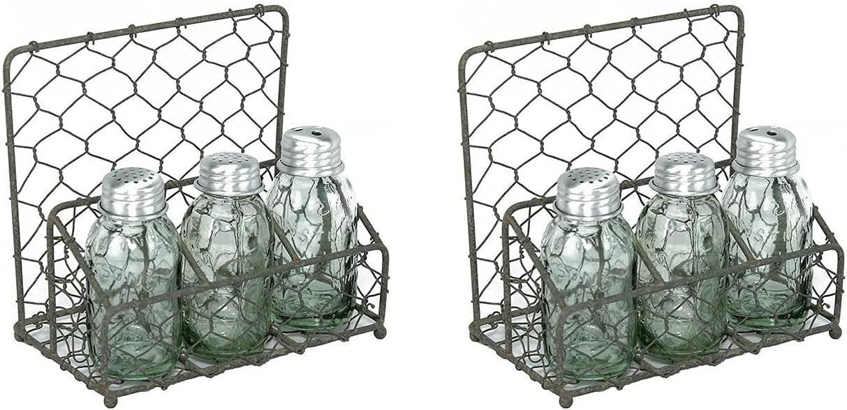Chicken Wire Salt Choice Pepper and Napkin Ranking TOP17 Two Caddy Barn Pack Roof