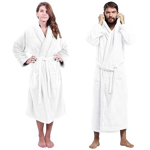3d99793d07 Towel Bazaar Turkish Cotton Luxury Terry Shawl Collar   Kimono   Hooded  Soft Spa Bathrobes for