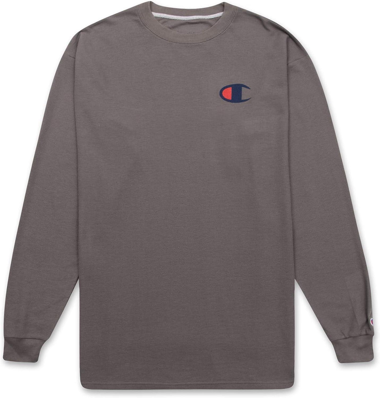 Champion Long Sleeve Shirt Mens Big and Tall Waffle Crewneck Thermal at  Men's Clothing store