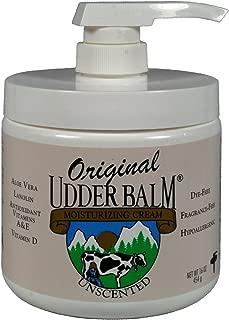 Unscented Original Udder Balm Moisturizing Cream 16oz Pump Jar