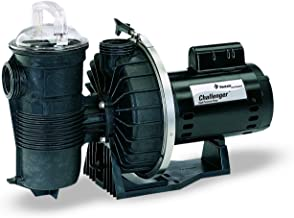 Pentair 343233 Stainless Steel Black Challenger High Flow Single Speed Pool Pump - 1-Horsepower