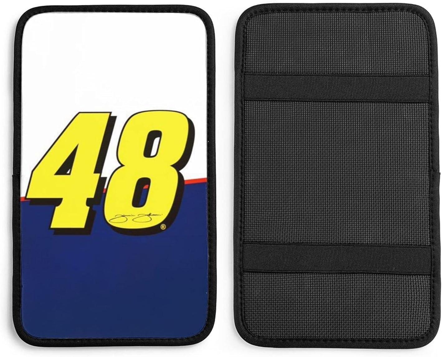 Jimmie-Johnson #48 Auto Max 78% OFF Center Console Regular dealer Cove Box Armrest Seat Pad
