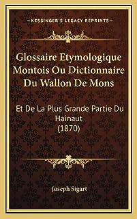 Glossaire Etymologique Montois Ou Dictionnaire Du Wallon De Mons: Et De La Plus Grande Partie Du Hainaut (1870)