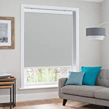 Keego Blackout Room Darkening Shade, Blinds for Windows Premium Metal Valance Thermal Insulated Roller Blinds Shades[Gray 100% Blackout,34