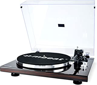 mbeat MB-PT-18K Bluetooth Turntable with Removable dust Cover, MMC Stylus, USB Recording, Tonearm Counterweight and Anti-S...