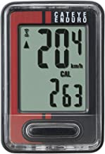 CATEYE Black/Red Wired Enduro Computer Compatible with Wheel Sized from 16